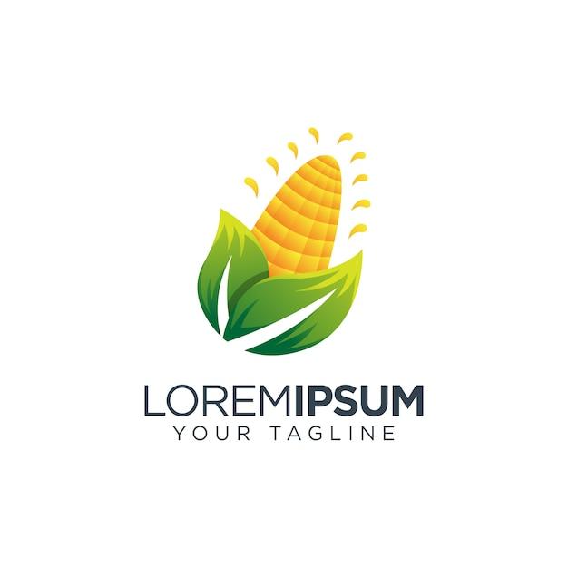 Ikona wektor logo kukurydzy Premium Wektorów