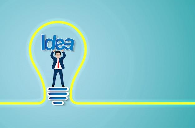 Ikona żarówki kreatywny pomysł Premium Wektorów