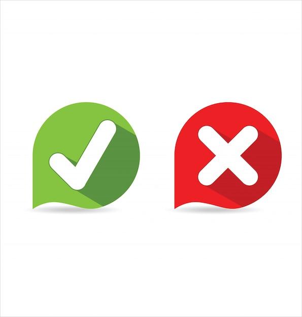 Ikona znacznika wyboru Premium Wektorów