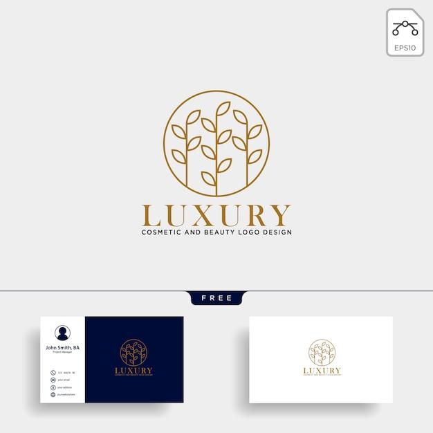 Ikonka Logo Kosmetycznych Linii Kosmetyczne Premium Wektorów