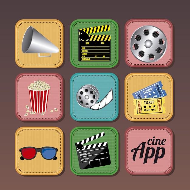 Ikony aplikacji Premium Wektorów
