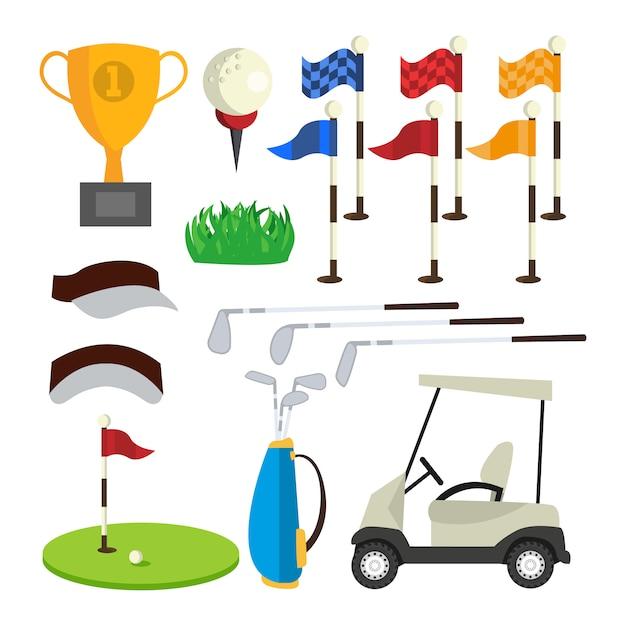 Ikony golfa Premium Wektorów