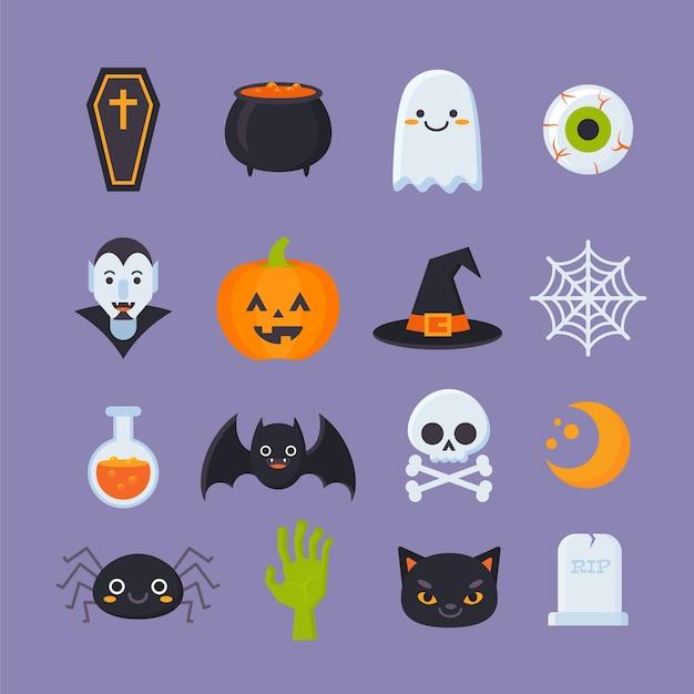Ikony Halloween Premium Wektorów