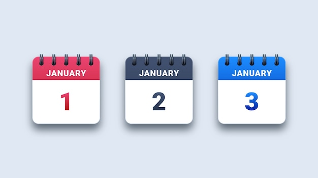 Ikony Kalendarza Papieru Premium Wektorów