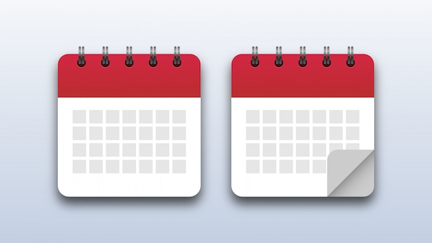 Ikony Kalendarza Premium Wektorów