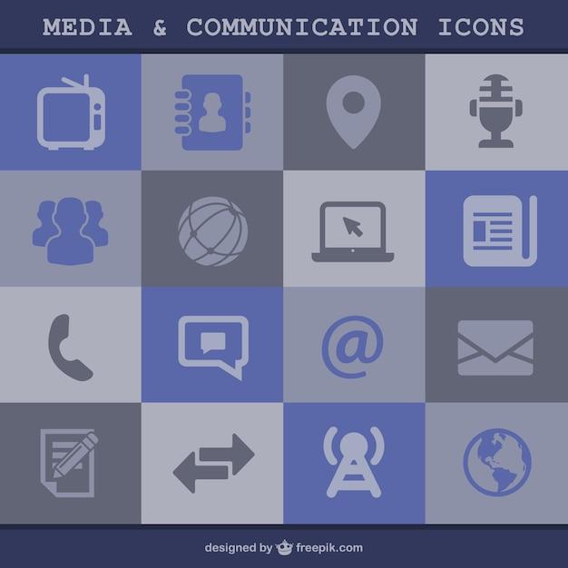 Ikony Mediów I Komunikacji Darmowych Wektorów