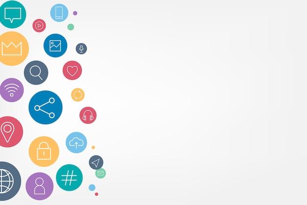 Ikony Mediów Społecznościowych Darmowych Wektorów