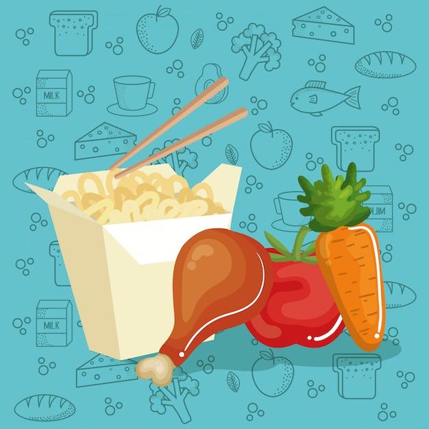 Ikony Menu Pyszne Jedzenie Darmowych Wektorów