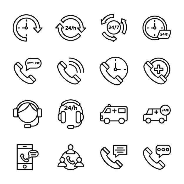 Ikony Obsługi Klienta, Infolinii I Obsługi Klienta Premium Wektorów