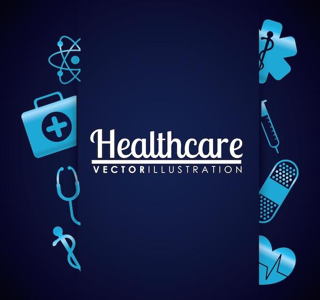 Ikony opieki medycznej Premium Wektorów