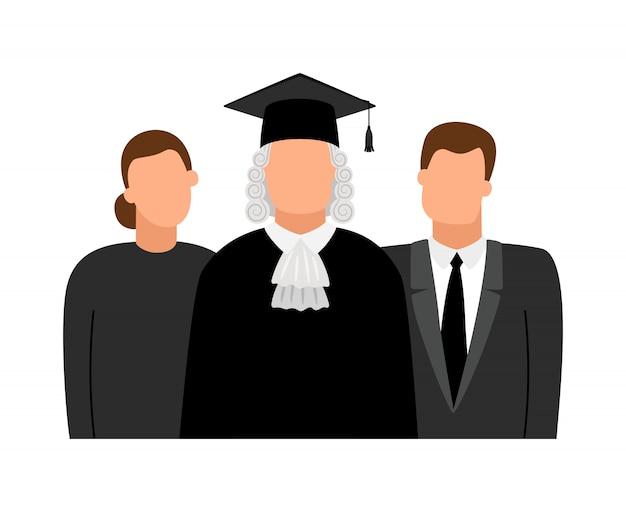Ikony Sędziego, Prawnika I Prokuratora Premium Wektorów