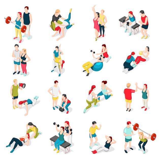 Ikony Sportowe Osobisty Trener Darmowych Wektorów
