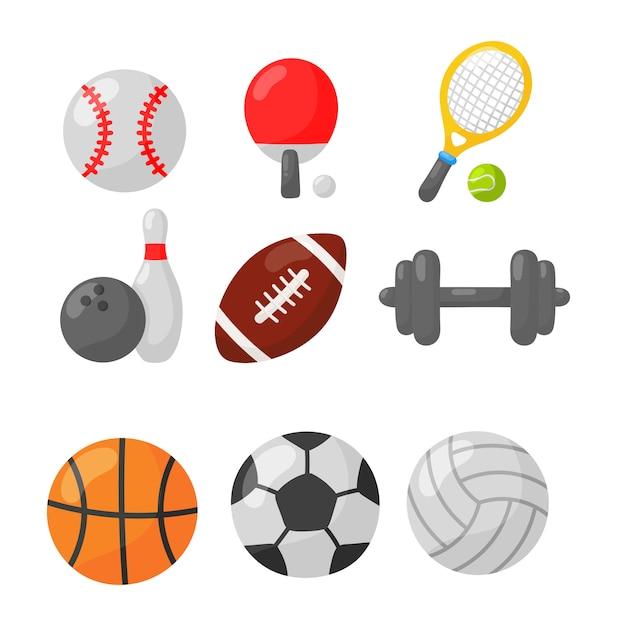 Ikony sportowe Premium Wektorów