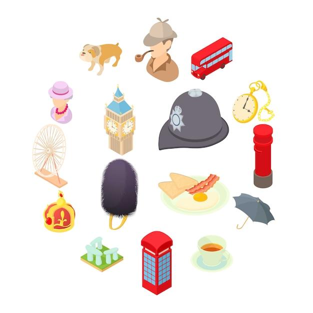 Ikony w stylu cartoon. zestaw ilustracji kolekcji Premium Wektorów