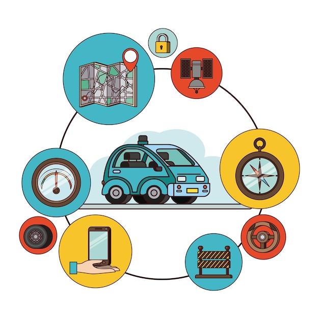 Ikony Zestawu Aplikacji Gps Premium Wektorów