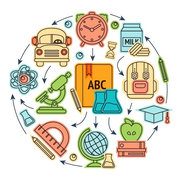Illustation ikony edukacji Premium Wektorów