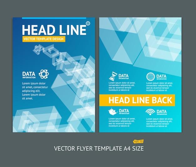 Illustration Abstrakcyjne Kształty Geometryczne Broszury Ulotki Szablony Projektów Premium Wektorów