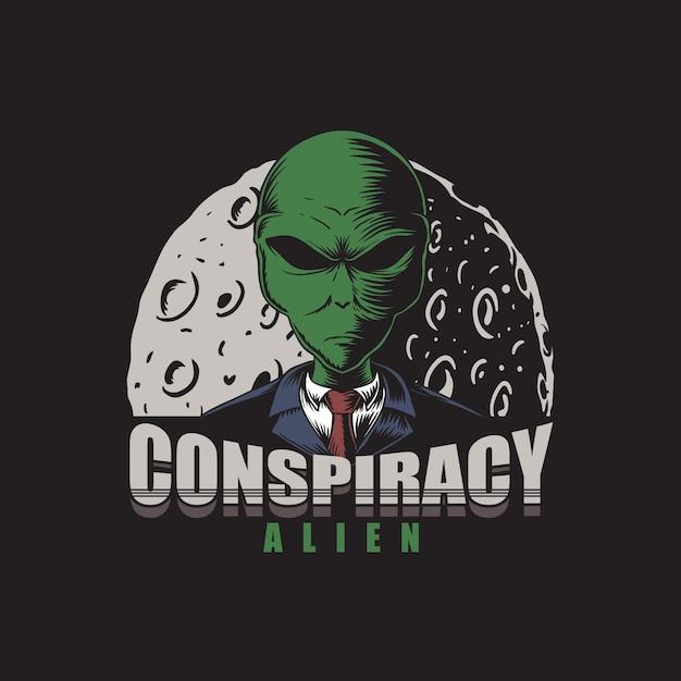 Ilustracja Alien Spisek Premium Wektorów