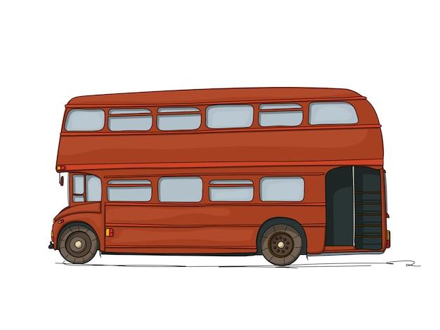 Ilustracja autobus piętrowy Premium Wektorów