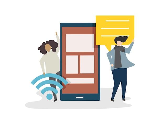 Ilustracja Avatar Sieci Ogólnospołeczny Pojęcie Darmowych Wektorów