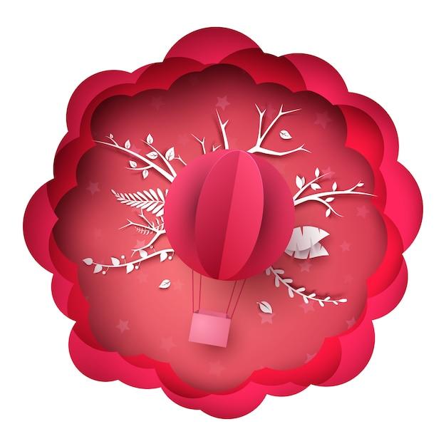 Ilustracja balon powietrza Premium Wektorów