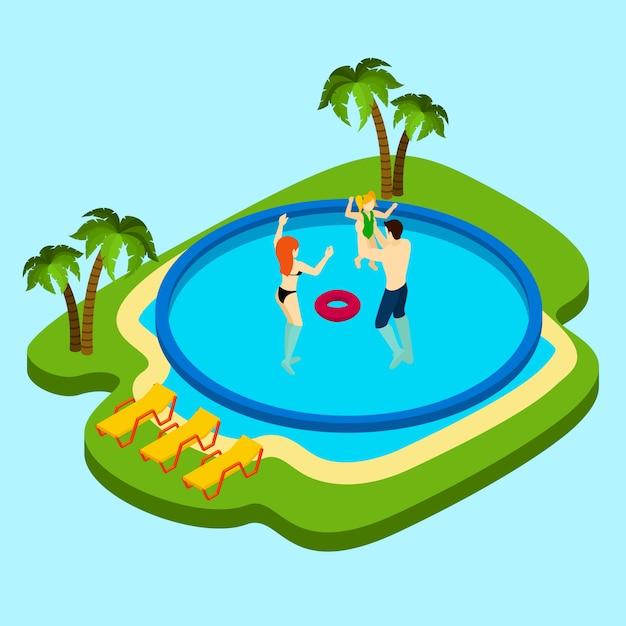 Ilustracja basen Darmowych Wektorów