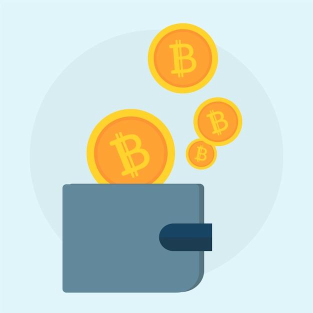 Ilustracja bitcoin pojęcie Darmowych Wektorów