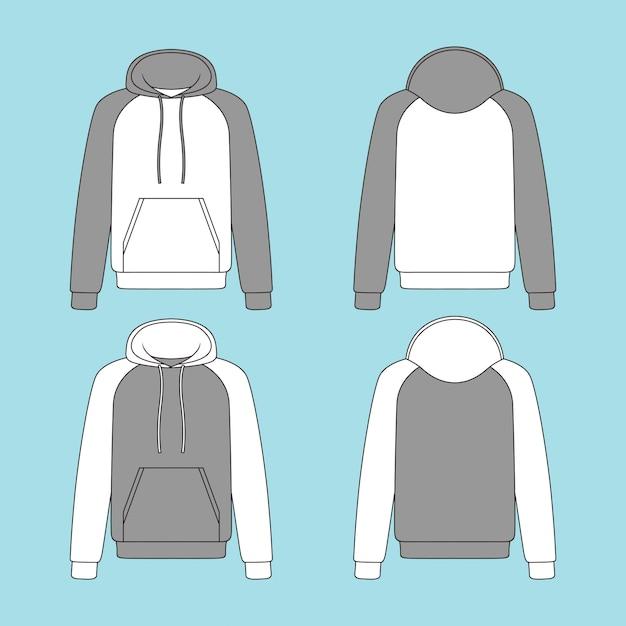 Ilustracja Bluza Z Kapturem Premium Wektorów