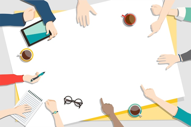 Ilustracja brainstorming pracy zespołowej Darmowych Wektorów