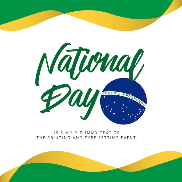 Ilustracja brazylia święto narodowe Premium Wektorów