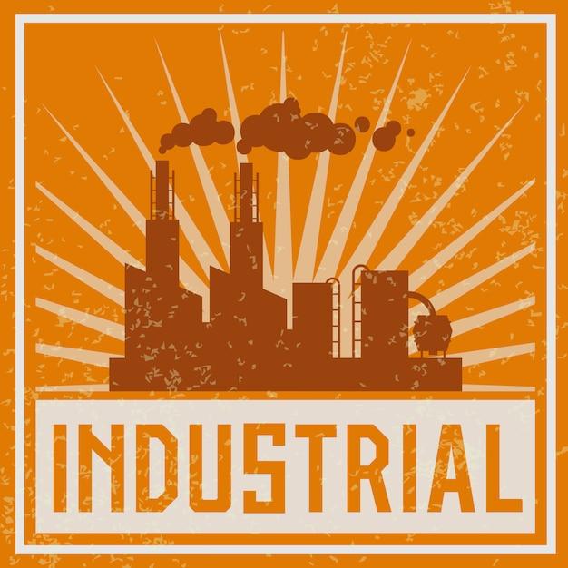 Ilustracja budynku przemysłowego budowy Darmowych Wektorów