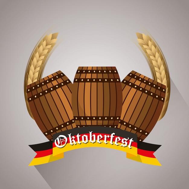 Ilustracja Celebracja Oktoberfest, Festiwal Piwa Premium Wektorów