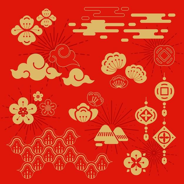 Ilustracja chiński nowy rok Darmowych Wektorów