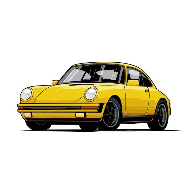 Ilustracja Classic Car Premium Wektorów