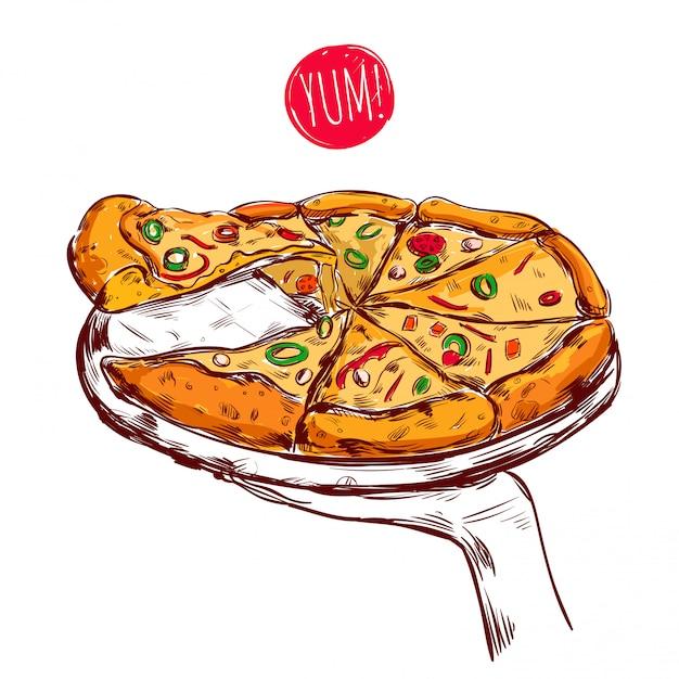 Ilustracja Dania Kuchni Włoskiej Darmowych Wektorów
