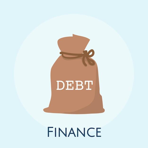 Ilustracja długu pieniężny pojęcie Darmowych Wektorów