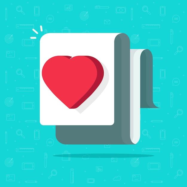 Ilustracja Dokumentu Medycznego Zdrowia, Pomysł Jak List Miłosny, Obraz Koncepcji życzenia Premium Wektorów