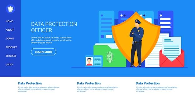 Ilustracja Dotycząca Ochrony Danych. Premium Wektorów