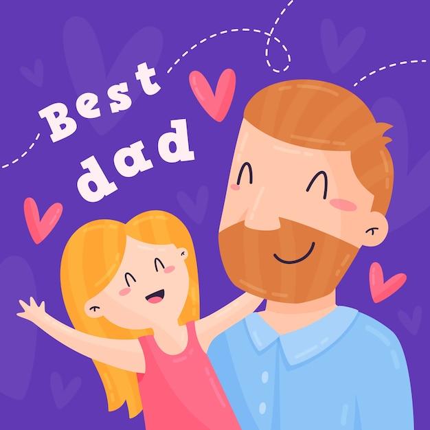 Ilustracja Dzień Ojca Darmowych Wektorów
