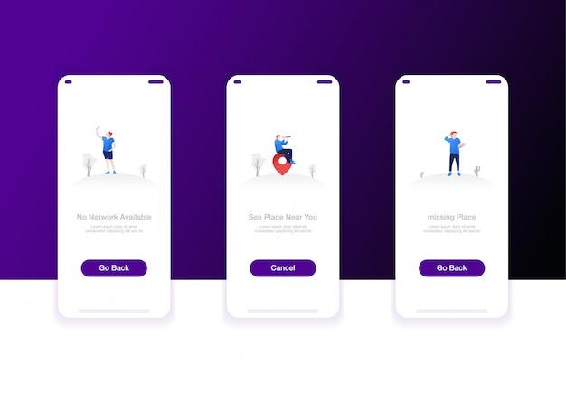 Ilustracja Ekranów Pokładowych Premium Wektorów