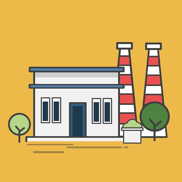 Ilustracja elektrowni Darmowych Wektorów