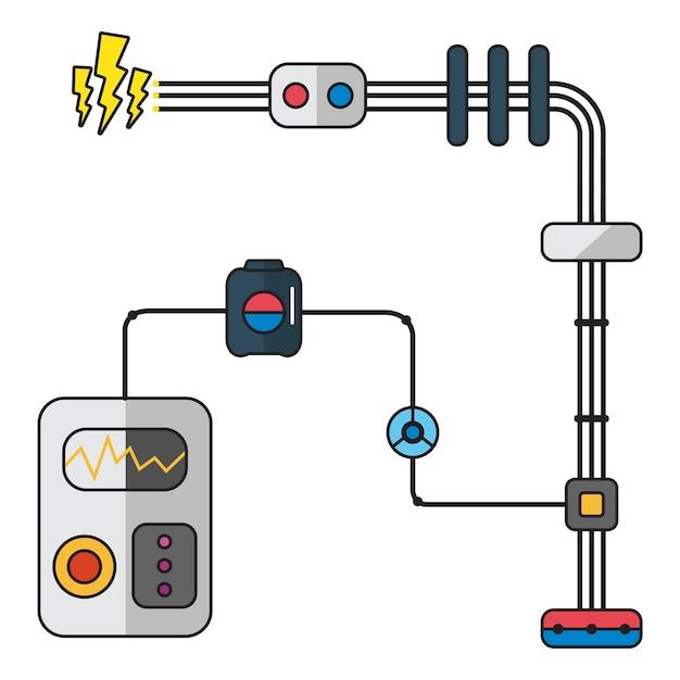 Ilustracja elektryczności Darmowych Wektorów