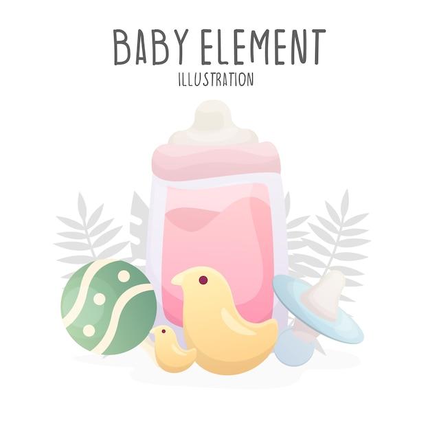 Ilustracja elementu dziecka Premium Wektorów