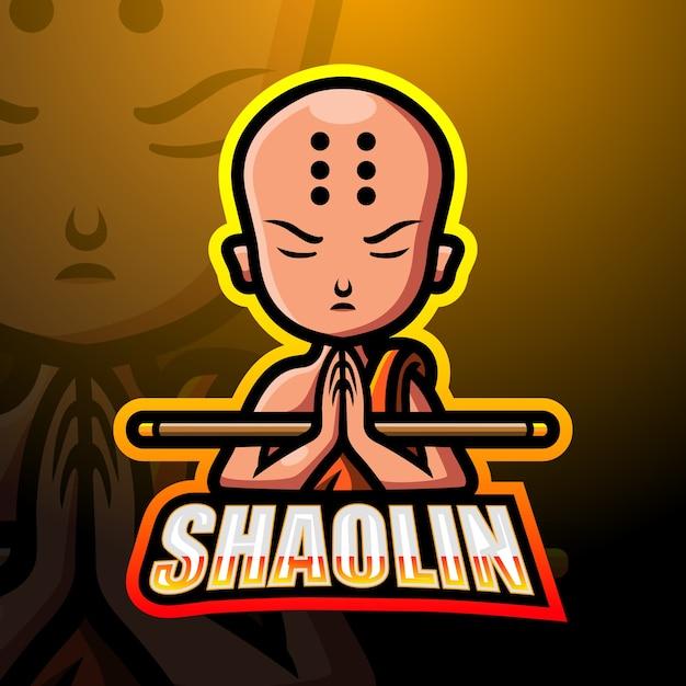 Ilustracja Esport Maskotka Shaolin Premium Wektorów