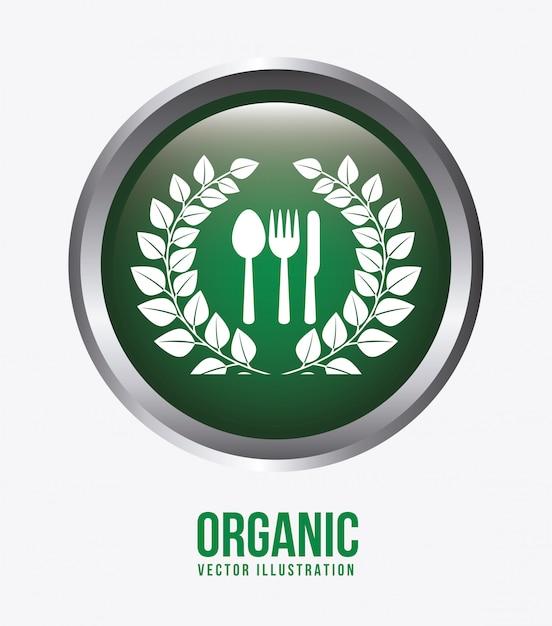 Ilustracja etykiety żywności ekologicznej Darmowych Wektorów
