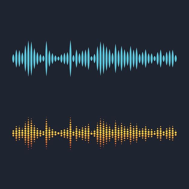 Ilustracja Fal Dźwiękowych Premium Wektorów