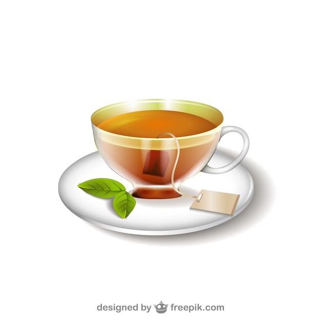 Ilustracja filiżanka herbaty Darmowych Wektorów