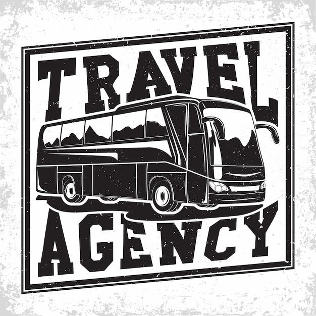 Ilustracja Firmy Podróżującej Autobusem Premium Wektorów