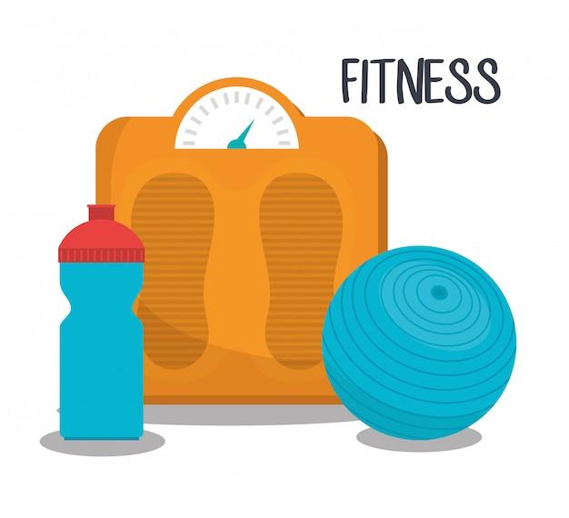 Ilustracja fitness sportowy Darmowych Wektorów