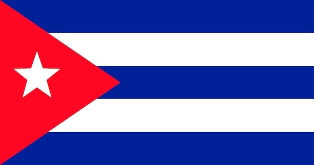 Ilustracja Flaga Kuba Darmowych Wektorów